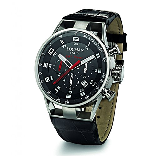 Montre chronographe Homme Ref. Montecristo Anniversary 0530oa01s-00bkwhpk-514Locman