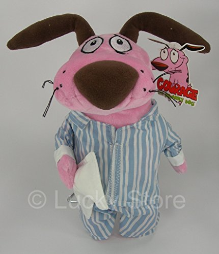 Courage The Cowardly Dog dressed in Pajama Soft Toy Plush 12'' Cartoon Network
