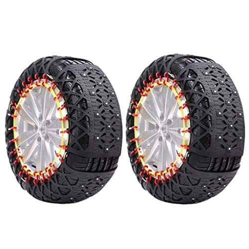 Car Tyre Neve catena professionale, Anti Skid Neve Stabile Catene d'emergenza for Ice Road Snow Mud Road, con Carry Bag e guanti, Compro dimensione esatta Dimensioni pneumatici ( Size : 265/45R20 )