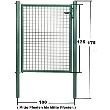 GAH Wellengitter-Tor grün Höhe 125cm x Breite 100cm