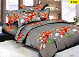 #10: Abros Home Decor 140 TC Polycotton Double Bedsheet with 2 Pillow Covers - Grey