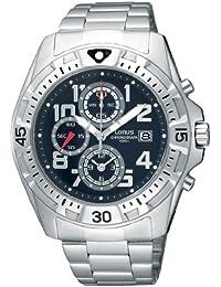 Lorus RF837CX9 - Reloj analógico de caballero de cuarzo con correa de acero inoxidable plateada - sumergible a 100 metros