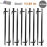 Triwonder Steel Tent Stakes Heavy Duty Tarp Pegs Solid Stakes Footprint Camping Stakes