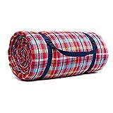 KISlink Extra große Picknickdecken mit wasserdichter Rückseite, Leichter kompakter Picknickreiseteppich, Outdoor-Baby-Krabbeldecke oder Kinderspielmatte, 300 x 300 cm (Farbe: Stil 3)