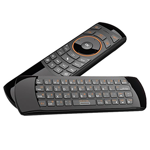 Rii Mini i25 (layout Español) - Mini Wireless teclado con ratón giroscópico y control remoto infrarrojos para Smart TV, Mini PC Android, PlayStation, Xbox, HTPC,IPTV, PC, Raspberry