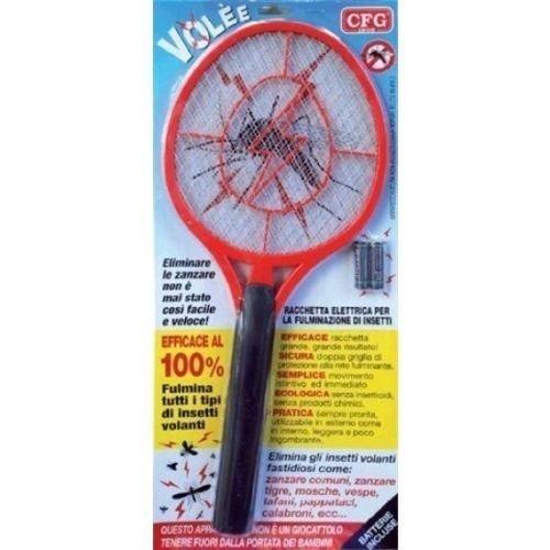 CFG - Maxi raqueta eléctrica, para matar mosquitos e insectosRaqueta Zanza Volè XL, de CFG.