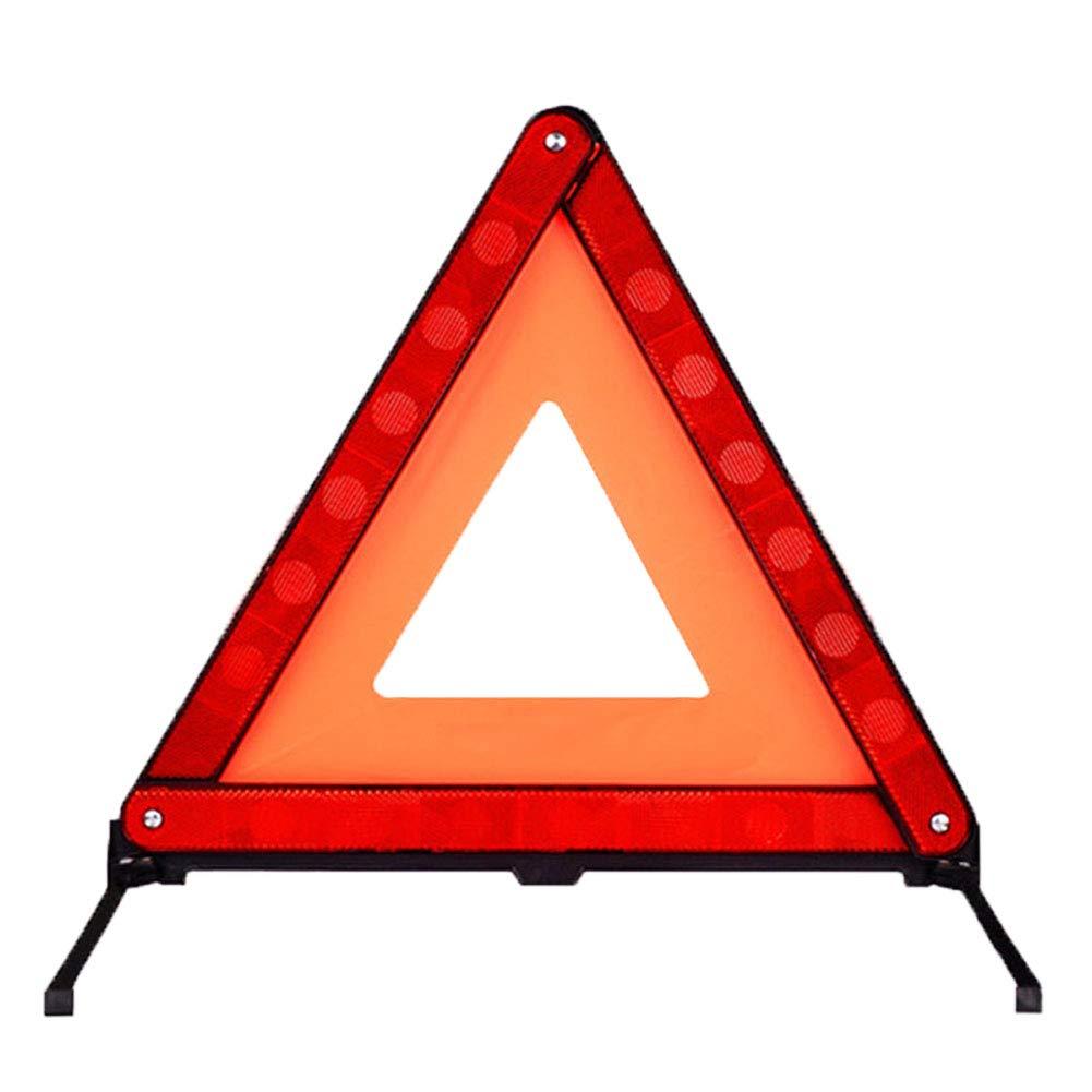 SADA72 Panneau d'avertissement Triangulaire de sécurité pour Voiture, Pliable et réfléchissant sur la Route, Panneau de signalisation d'urgence Triangulaire