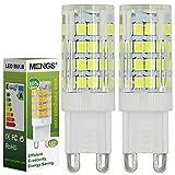 2pz MENGS Lampada LED 5W G9 LED 51x 2835 SMD Lampadina LED (Bianco freddo 6000k, 360 angolo, 480lm, AC 220 - 240V , 15 x 48mm) Lampadine a risparmio energetico