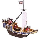 Pirate ship with accessories, Nave Nave Pirata Play Set Eddy Toys Nave Galeone + 3 Soldati Inglesi +10 Accessori Bambini Giochi Bakaji