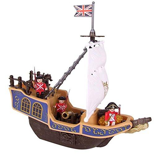 Bakaji pirate ship with accessories, nave nave pirata play set eddy toys nave galeone + 3 soldati inglesi +10 accessori bambini giochi