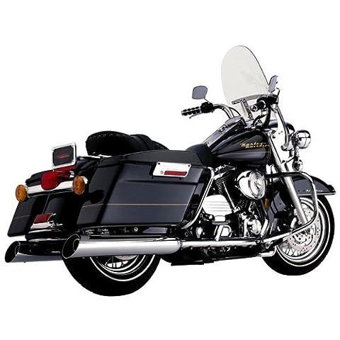 Cobra 6201UC 4 Inch Slip On Upper Cut Chrome Muffler For Harley Davidson Fl Touring Mo