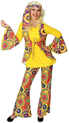 narrenkiste O9439-46-48 Hippie Kostüm Anzug Flowerpower Party ()