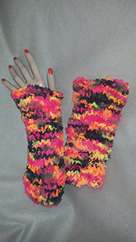 Damen Herren Winter Halb Handschuhe Winter Wärmer Strick Handschuhe Gestrickte Fingerlose Armstulpen Fäustlinge
