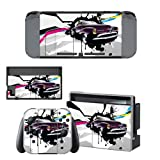 CIVIQ Resident Evil 2 Remake Decal Vinyl Skin Sticker pour Nintendo Switch NS Console + Controller + Stand Holder Protective Skin Sticker