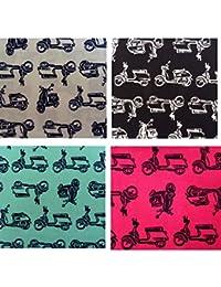 Unique Boutique Ein blaues Stofftaschentuch Stofftaschentuch Hund Dackel Doggy Frankreich Damen Kinder Stofftuch