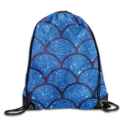 Shiny Fish Scale Mermaid Pattern Unisex Drawstring Backpack Travel Sports Bag Drawstring Beam Port Backpack. - The North Face Insulated Belt