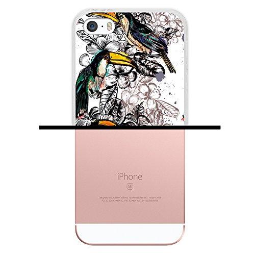 iPhone SE iPhone 5 5S Hülle, WoowCase Handyhülle Silikon für [ iPhone SE iPhone 5 5S ] Hawaii Big Waves Surf Rider Handytasche Handy Cover Case Schutzhülle Flexible TPU - Transparent Housse Gel iPhone SE iPhone 5 5S Transparent D0520