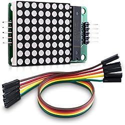kwmobile Módulo matriz LED 8x8 - Matrix punto rojo para Raspberry Pi y Arduino - Pantalla de circuito simple y en cascada MAX7219