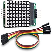 kwmobile módulo matriz LED 8x8 - matrix module para Raspberry Pi & Arduino - módulo de matrix de punto rojo - circuito simple - en cascada