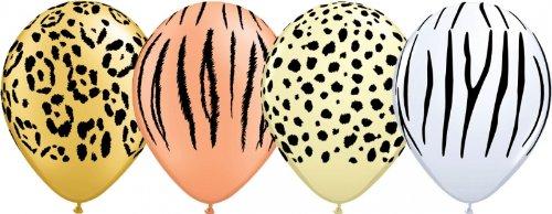 Luftballons Safari, Qualatex, bunt sortiert, ca. 30 cm Durchmesser, 10 Stück