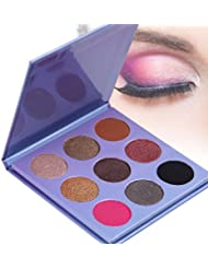 DE'LANCI 9 Color Eyeshadow Palette -Professional Waterproof Shimmer & Matte Makeup Eye Shadow Kit Set