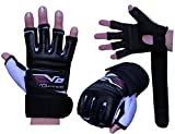 EVO Leather body combat GEL Gloves MMA Boxing Punch Bag Martial Arts Karate Mitt (Medium)