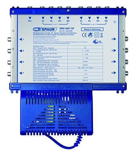 Spaun SMS 9807 NF 9/8 Sat-Kompakt-Multischalter (8 Teilnehmer)