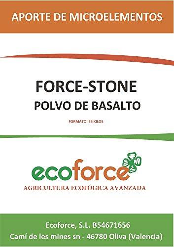 CULTIVERS Force Stone Harina de Roca (polvo de basalto) de 20 kg. Fertilizante ecologico a base de silicio que aporta micoelementos para todo tipo de plantas