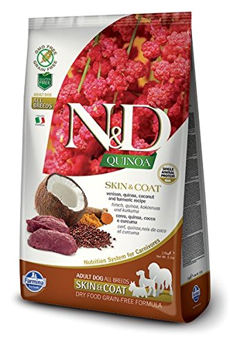 Farmina, N&D, Quinoa, Skin & Coat, Hirsch 7 kg