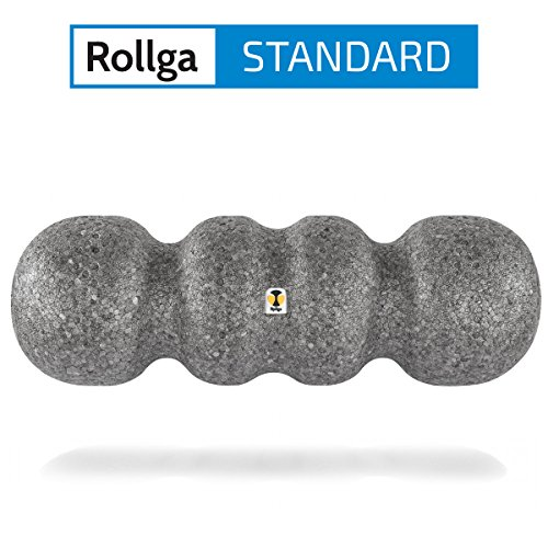 Rollga Faszienrolle, Standard, grau - 45 cm, patentierte 4-Zonen-Formung