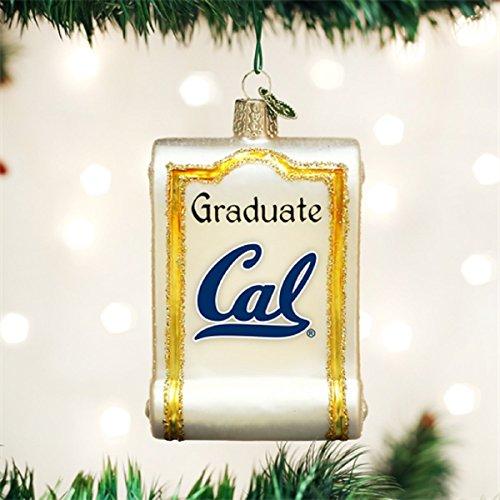 Old World Christmas California Berkeley Cal Golden Bears Diploma Ornament 63312 Cal Berkeley Bears