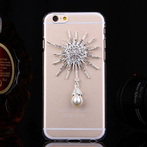 Phone case & Hülle Für IPhone 6 / 6s, Diamant verkrustete Sonnenblumen-Perlen-Bell-Muster-PC schützende Fall-rückseitige Abdeckung ( SKU : IP6G2010A ) IP6G2010D