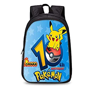 51Vj3KuhUiL. SS300  - Backpack Mochila para Niños para Niños Pokemon Kinder Schoolbags Mochila 3D (Mochila De Doble Capa De 35 Cm) 10