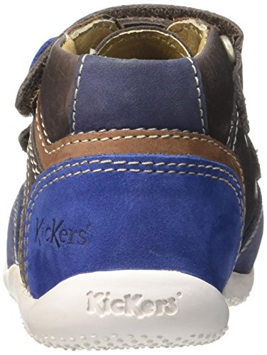 Kickers Baby Jungen Baxter Lauflernschuhe, Marineblau Marron (Marron/Camel/Bleu)