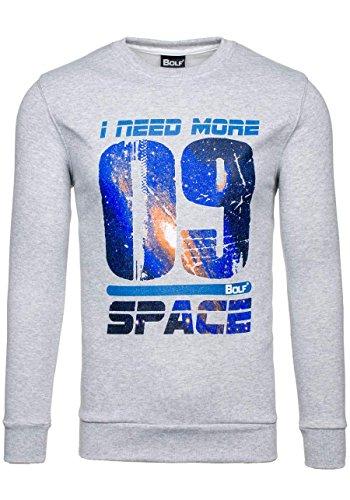 BOLF - Sweat-shirt - Maglione sportivo - con la stampa – BOLF 64S - Uomo Grigio