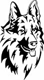 Deutscher Schäferhund Kopf Aufkleber Autoaufkleber Sticker Auto`+ Bonus Testaufkleber