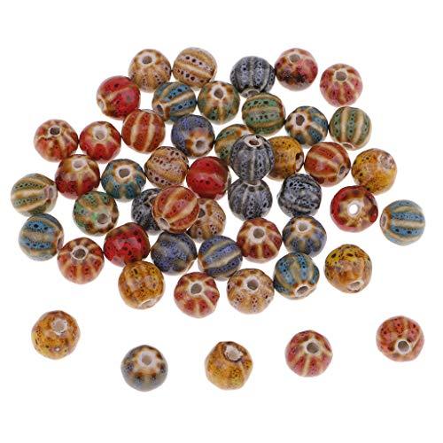 IPOTCH 50 Stück Wassermelone Form Lose Perlen Kugeln Beads Bastel Kindershcmuck für Armband Halskette Kette Handwerk