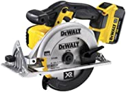 DeWalt 18V 165mm Premium Circular Saw, 2 x 4.0Ah batteries, charger & kitbox, Yellow/Black, DCS391M2-GB, 3