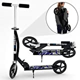 Kinetic Sports Scooter Cityroller Kinderroller Tretroller Kinetic Sports Klappbar 205 mm XXL Räder Blau-Schwarz