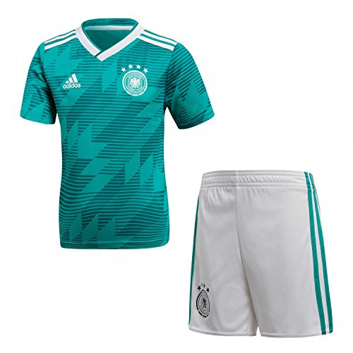 adidas Kinder Dfb Away Minikit, Eqt Green s16/White/Real Teal s10, 116