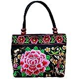 Chic gestickte Blumen-Tasche, chinesische traditionelle ethnische Art-Schulter-Taschen nach dem Zufall Lieferung als Geschenk Frauen Mädchen