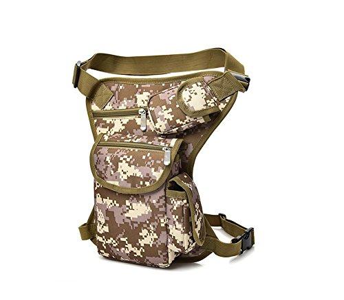 SYSI Herren Beintasche Reiten Tragetasche Taille Hüfttasche Bein Hip gürteltasche,Sport Taktische Airsoft Militär (Dschungel-Tarnung)