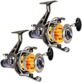 Best Baitrunner Reels - LinTimes 2 Pack Carp Fishing Reels with Front Review