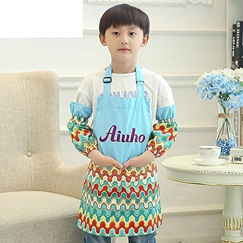 grembiule bambini/Vestiti di tela impermeabile con maniche piccolo grembiule-A