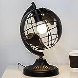 Skandinavische Minimalistische Schreibtischlampe Gemalt Schmiedeeisen Tischlampe Mode Erde Lesen Arbeitstisch Lampe Konferenzraum Schlafzimmer Salon Büro Studie, Φ17cm H35cm E27 (Color : Schwarz)