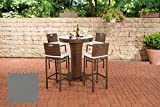 CLP Poly-Rattan Garten-Bar Set MARI L