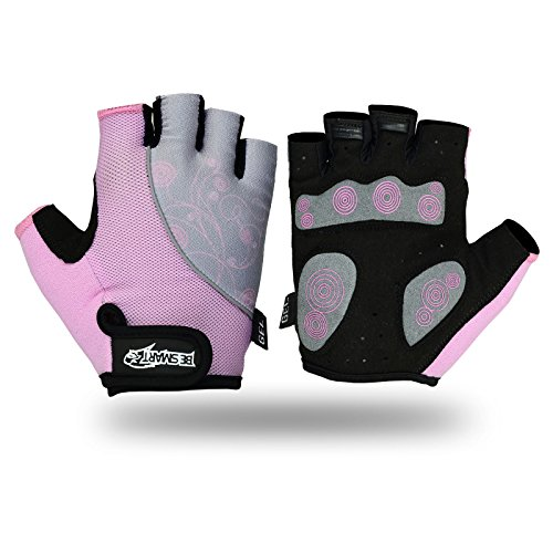 Ladies Cycling Gloves MTB Bike Half Finger Bicycle Palm Gel Silicone Fingerless UK