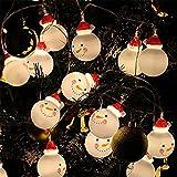 LED Christmas Snowman Kopf Lampe String-3M Festliche Dekoration Lichter,Warmwhite
