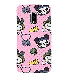 ANAIMATED CARTOONS IN A PINK BACKGROUND 3D Hard Polycarbonate Designer Back Case Cover for Motorola Moto G4 Plus