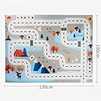 Yagii Kids Play Mat City Road Buildings Parking Map Game Scene Map Educational Toys Gifts For Children Kids